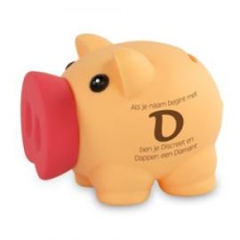 Fun spaarvarken letter D