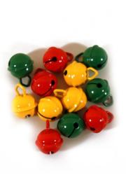 Belletjes rood, geel en groen