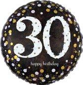 Folieballon birthday sparkling 30 (45cm)