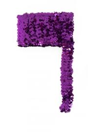 Paillettenband breed elastisch paars 3m