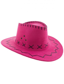 Cowboy hoed roze kind
