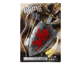 Luxe zwaard en pijl&boog set | zilver rood