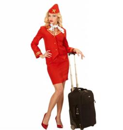 Stewardess jurkje rood chique