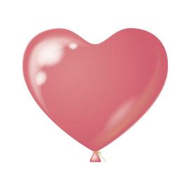 Hartenballonnen roze 100 st.