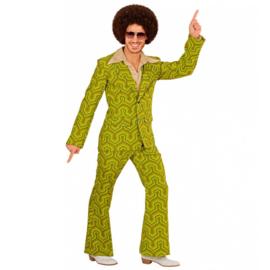 Groovy 70's  heren kostuum green