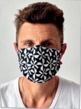 Mondkapje zwart wit wasbaar | 50x Herbruikbare mondmaskers