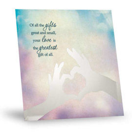 Silver silhouette Quote gift