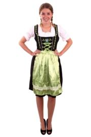 Tirolerjurk dirndl groen en zwart OP=OP