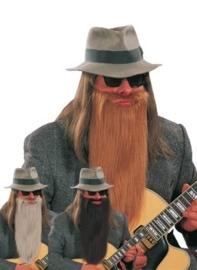 ZZ-Top baard en snor zwart