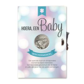 Kaart geluksmunt Hoera een baby