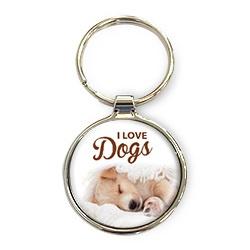 Luxe Sleutelhanger - I love Dogs