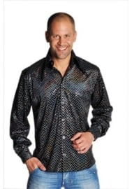 Glitter blouse zwart