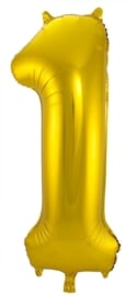 Folieballon 1 goud