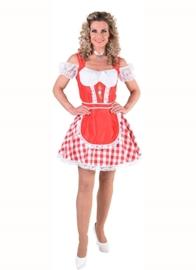 Tiroolse jurk bont rood OP=OP