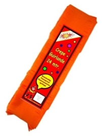 Crepe guirlande - slingers -- oranje