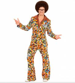 Groovy 70's  heren kostuum cirkels