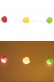 Lichtverlichting snoer 20 bollen rood, geel en groen