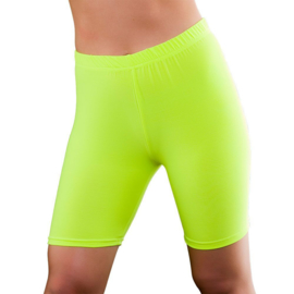 Cycling short neon geel