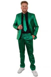 Groen 3 delig pak metallic | bling bling