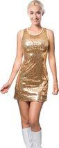 Glitter jurkje party goud