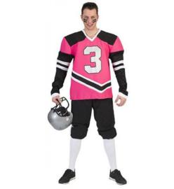 American Football kostuum Pink