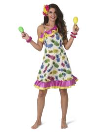 Tropisch ananas jurkje dames | Caribische lady