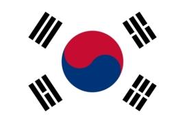 Vlag Zuid korea 90x150cm