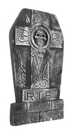 Grafsteen skull kruis