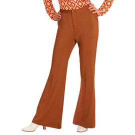 Groovy 70's  dames broek bruin