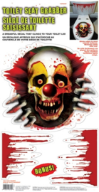 Halloween WC decoratie Scary Clown