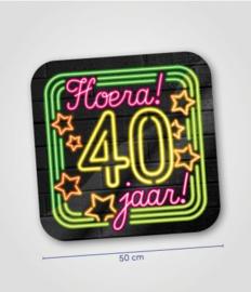 Deurbord neon 40 jaar