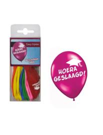 12 Ballonnen hoera geslaagd assortie