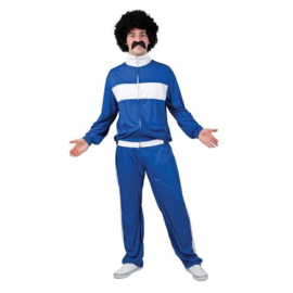 Retro trainingspak blauw | Fout trainings outfit