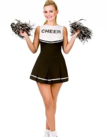 Cheerleader jurkje zwart wit