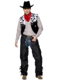 Cowboy kostuum leatherlook