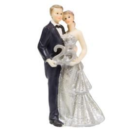 Bruidspaar beeldje 25 jaar getrouwd