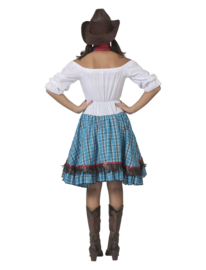 Cowgirl blue bird jurkje | Cowboy lady