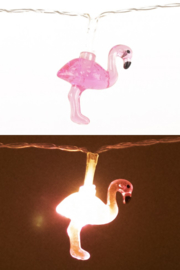 Lichtverlichting snoer 160cm met 10 flamingo lampen