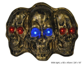 Wanddeco skull met licht