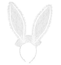 Bunny oren kant wit