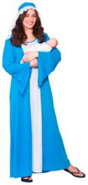 Maria kostuum blauw