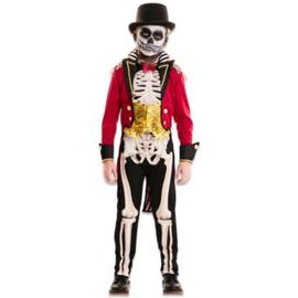 Circusartiest skelet jongen