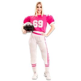 Amerikaans football kostuum dames pink