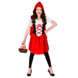 Roodkapje jurkje rood wit