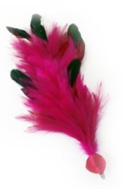 Verenpluim Roze 30cm clip