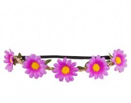 Hoofdband bloemen paars