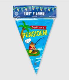 Party Vlaggen - Pensioen cartoon | Vlaggenlijn