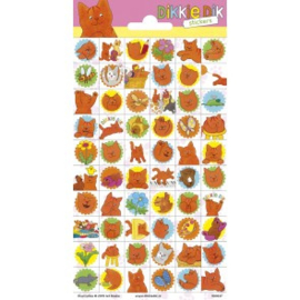 Sticker vel Dikkie Dik (mini)
