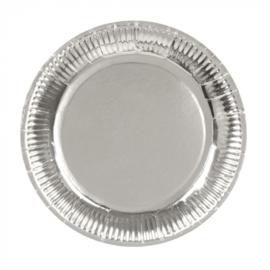 Zilveren bordjes 6 stuks