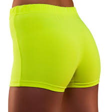 Hot pants neon geel